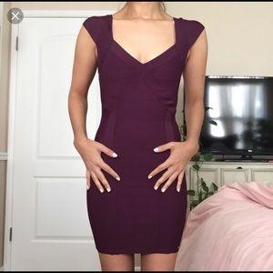Purple Body con dress